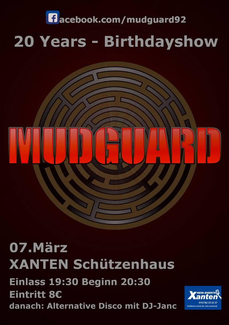 20 jahre mudguard live im sch tzenhaus. Black Bedroom Furniture Sets. Home Design Ideas